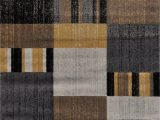 Black Gray and Tan area Rugs Stegner Premium Abstract Yellow Gray Light Brown Black area Rug