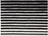 Black White Striped area Rug Fry S Food Stores Dip™ Striped area Rug Black White 60