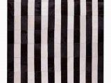 Black White Striped area Rug Manan Striped Handmade Black White area Rug