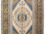 Blue 4×6 area Rugs 4×6 Blue Vintage Turkish area Rug