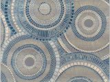 Blue and Brown area Rug Walmart Addison Freeport Indoor Outdoor Geometric Circles Blue area Rug Walmart