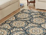 Blue and Brown area Rug Walmart Better Homes & Gardens Blue tokens area Rug Walmart