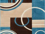 Blue and Brown area Rug Walmart Echo Shapes Circles Blue Brown Modern Geometric Fy Casual Hand Carved 9×13 9 3 X 12 6 area Rug Easy to Clean Stain Fade Resistant Abstract