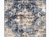 Blue and Brown area Rug Walmart Romance Collection Rugs Blue Cream Brown Distressed Washed oriental Design Premium soft area Rug 2 X3 Door Scatter Mat