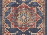 Blue and Burgundy area Rugs Dulin Blue Rust Red area Rug