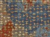 """Blue and Coral area Rug 9 10"""" X 13 2"""" Polypropelene Blue Coral area Rug"""
