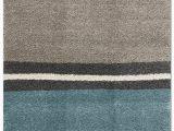 Blue and Cream Striped Rug Maroq area Rug – 5 X 8