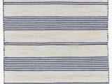 Blue and Cream Striped Rug Robie Blue Cream area Rug