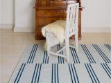 Blue and Cream Striped Rug Stripes Ice Blue