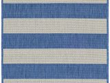 Blue and Cream Striped Rug Tim Gray Light Blue Indoor Outdoor area Rug