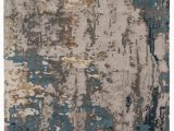 Blue and Gray Abstract Rug Segall Handmade Abstract Dark Blue Gray Rug Burke Decor