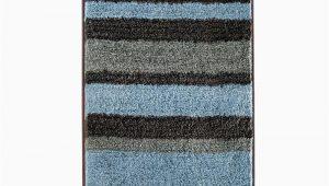 Blue and Gray Bathroom Rugs 34 X 21 In Microfiber Bath Rug Gray Blue Stripe Pattern