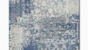 Blue and Gray Shag Rug Gossamer Blue Grey area Rug
