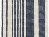 Blue and Gray Striped Rug Portland Striped Handmade Flatweave Cotton Dark Blue area Rug