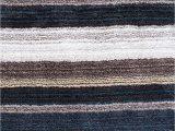 Blue and Gray Striped Rug Premium Handmade Striped Blue Gray Plush Shag area Rugs
