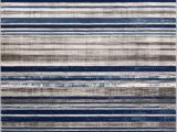 Blue and Gray Striped Rug Signature Stripes Blue Modern Distressed Rug
