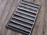 Blue and Gray Striped Rug Striped Rug Collection