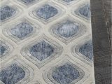 Blue and Gray Throw Rugs Clara Collection Hand Tufted area Rug In Blue Grey White