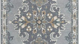 Blue and Gray Wool Rug Rizzy Home Resonant Collection Wool area Rug 10 X 13 Gray Light Gray Dark Beige Blue Gray Central Medallion