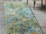 Blue and Green Runner Rug Blue Green 2 2 X 6 7 Spectrum Runner Rug Irugs Uk