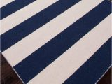 Blue and Navy Rug Tierra Handmade Stripe Navy White area Rug Burke Decor
