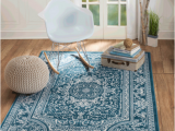 Blue and White area Rugs 5×7 area Rug St62 Blue White Contemporary Modern Size 5×7