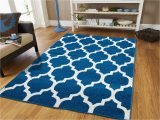 Blue and White area Rugs 5×7 Buy New Fashion Luxury Morrocan Trellis area Rug Blue and