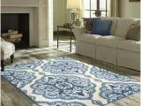 Blue and White area Rugs 5×7 Light Blue White Medallion Floral area Rug 5×7 Damask