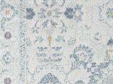 Blue and White area Rugs 5×7 Zyra Transitional Vintage area Rug Bashful Blue Bashful