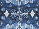 Blue and White Aztec Rug Mohawk Home Eidenau Denim Aztec area Rug