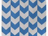 Blue and White Chevron Rug Bargas Chevron Handwoven Cotton Blue White area Rug