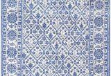 Blue and White Cotton Rug Blue White Vintage Indian Agra Cotton Rug Nazmiyal