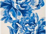 Blue and White Floral Rug Rug Imr505a isaac Mizrahi area Rugs by Safavieh