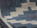Blue and White Kilim Rug 4 X 6 Handmade Kilim Rug Jute Kilim Blue Black White