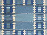 Blue and White Kilim Rug J Nazmiyal Inc Scandinavian Vintage Swedish Kilim Blue