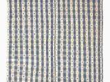 Blue and White Kilim Rug White & Stone Blue Vintage Cotton Kilim Rug