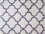 Blue and White Moroccan Rug Details About Nicole Miller Designer area Rug White Blue Moroccan Trellis Quatrefoil Shag Rug