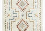 Blue and White Moroccan Rug Enright Tribal Moroccan Shag Red Blue F White area Rug
