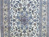 Blue and White Persian Rug Beautiful Persian Silk Rug In Blue