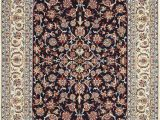 Blue and White Persian Rug Blue Silk and Wool Modern Persian isfahan Rug Nazmiyal