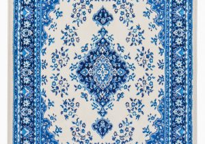 Blue and White Persian Rug Global Persian Blue and White Medallion Rug Walmart