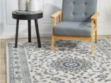 Blue and White Persian Rug Manal oriental Rug White