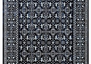 Blue and White Persian Rug Modern Navy Blue and White Persian Style Fringe Rug