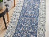 Blue and White Rug Runner Aisha oriental Runner Rug Blue White