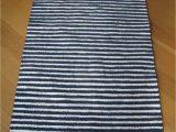 Blue and White Rug Runner Striped Blue and White Rug Navy Blue Stripes Scandinavian