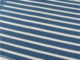 Blue and White Striped Rug 8×10 southwestern area Rugs Woodwaves
