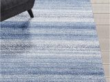 Blue and White Striped Rug 8×10 Striped Blue Modern area Rug