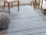"Blue and White Striped Rug 8×10 Well Woven Weston Blue Tribal Diamonda Striped Pattern area Rug 5×7 5 3"" X 7 3"""
