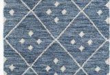 Blue and White Wool Rug Kota Geometric Handmade Blue White area Rug