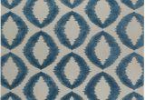 Blue and White Wool Rug Modern Geometria Dark Blue and White Flat Woven Wool Rug